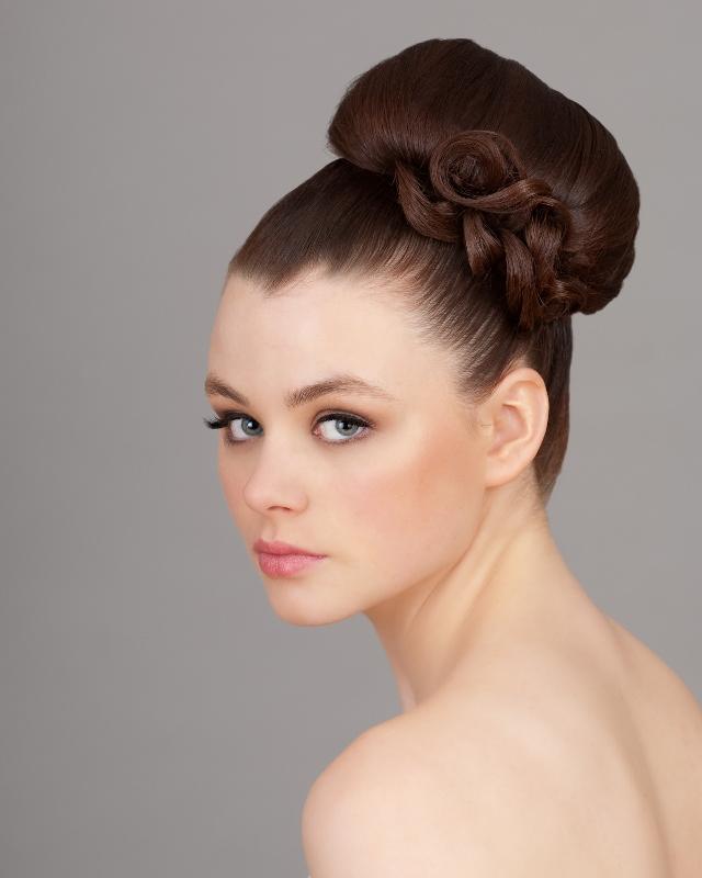 Bridal Hair High Bun Upstyle Glamourous Tricia O Sullivan