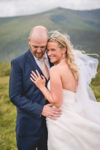 Sinead and Micheal together on their wedding in Dingle county Kerry