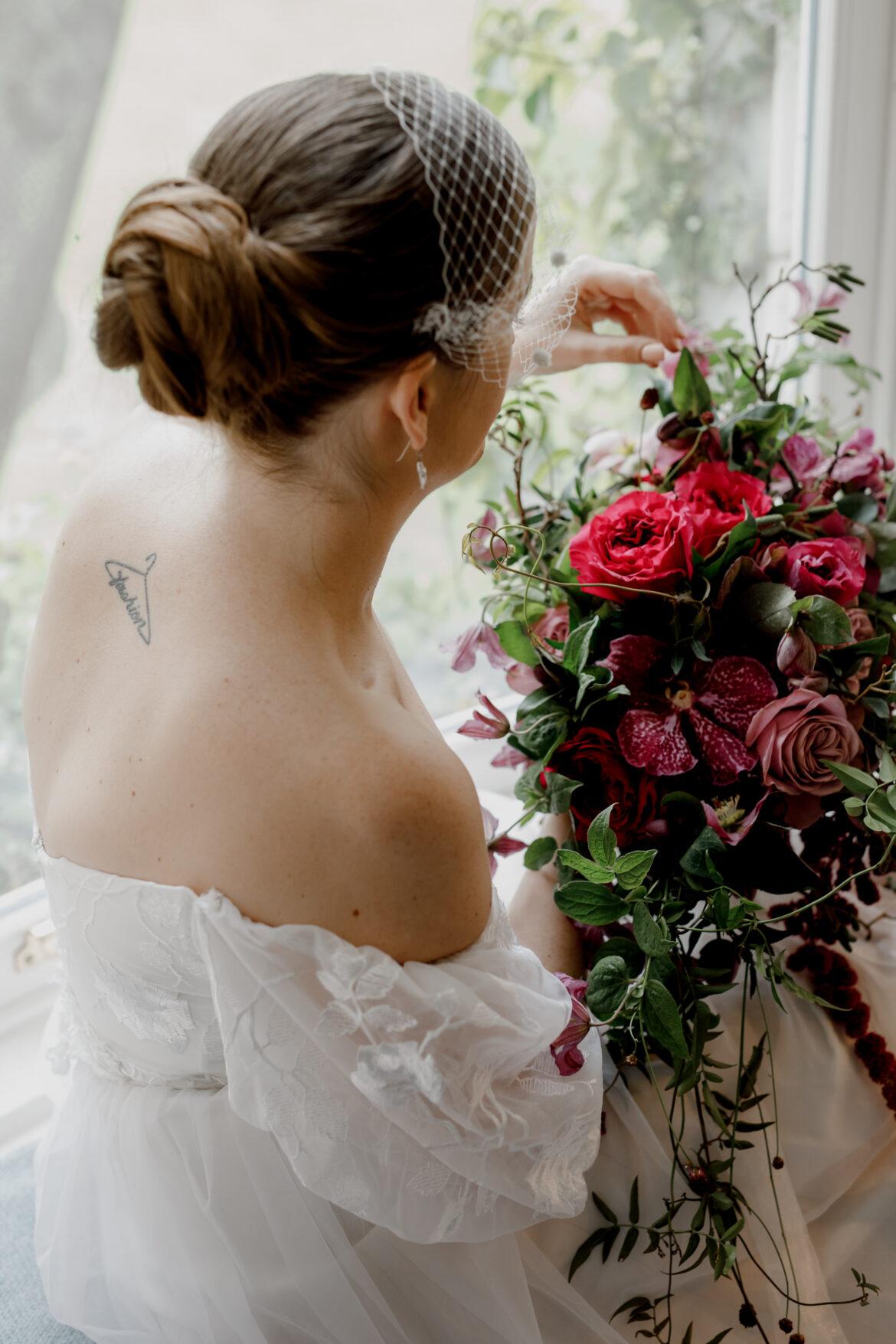 Wedding hair trial prep
